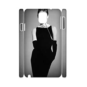 AUDREY HEPBURN Personalized 3D Case for Samsung Galaxy Note 3 N9000, 3D Customized AUDREY HEPBURN Case