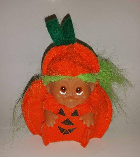 Vintage Halloween Pumpkin Troll Doll for $<!---->