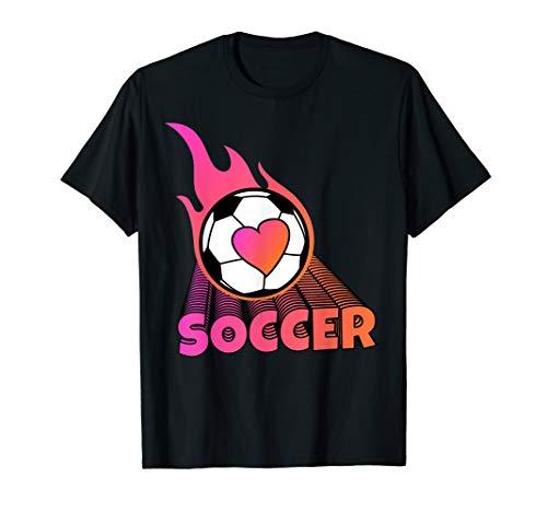 Cute Flaming Pink Soccer Ball - T-shirt Soccer Ball Flaming