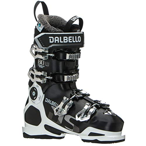 Dalbello DS 80 W Womens Ski Boots - 25.5/Black-White (Dalbello Ski Boots Women)
