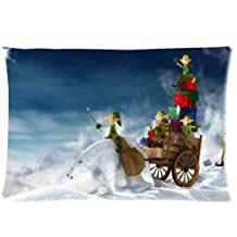 Etaovip Custom It Christmas Gift Rectangular Decorative Cotton Polyester Pillow Case Cushion CoverInch Zipper Pillowcase ( 20*20 )