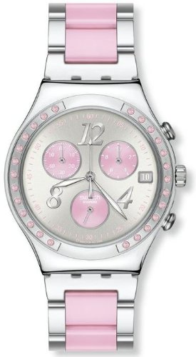 Swatch Ladies Dreampink Pink and Silver-tone Bracelet Watch YCS534G