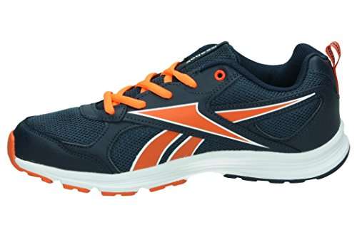 Reebok Ar2155, Zapatillas Para Niños Negro (Collegiate Navy / Flux Orange / Wht)