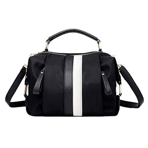 Mujeres Nylon Mochila De Lienzo Pequeña Bolsa Crossbody Top Handle Handbags White