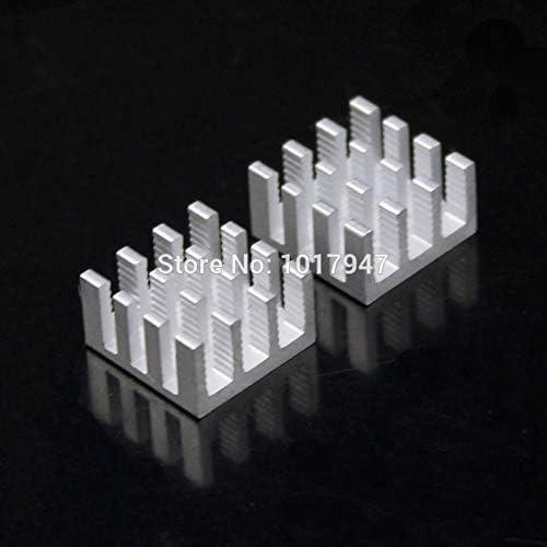 500pcs lot Aluminum Adhesive Radiator Heatsink Cooling Kit For IC LED Power 14x14x8mm