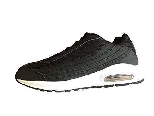 Airtech ,  Unisex Erwachsene Herren Jungen Sneaker Low-Tops Schwarz / Weiß