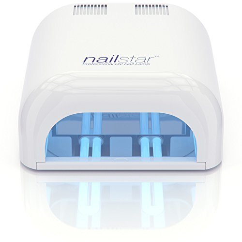 NailStar Professional 36 Watt UV Nail Dryer Nail Lamp for Gel with 120 and 180 Second Timers + 4 x 9W Bulbs Included