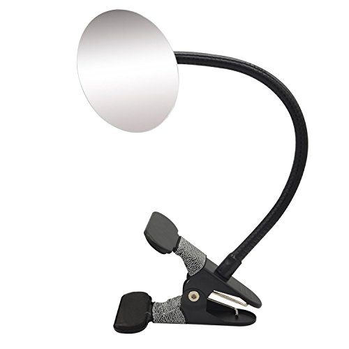 Ampper Clip On Security Mirror, Convex Cubicle Mirror for Personal Safety and Security Desk Rear View Monitors or Anywhere (3.35'', Round) by Ampper