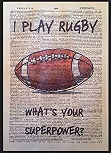 Vintage Rugby citazione stampa 1933dizionario pagina Wall Art Picture Gift sport homemade