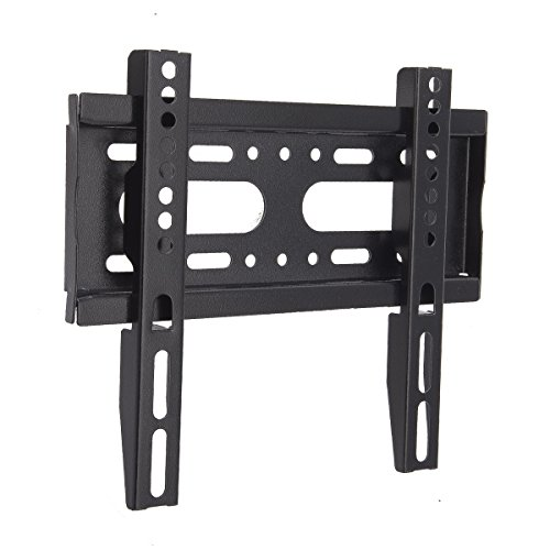 Low Profile Fixed TV Wall Mount Bracket JinNiu most 14-42 inch TVs Holds from the Wall Great for LED, LCD, OLED and Plasma Flat Screen TVs up to VESA 400x400mm and 35KG Max Load ()
