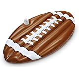 KOVOT Inflatable Jumbo Football Pool Float Raft With Can/Bottle Holder - Close To 7 Feet Long