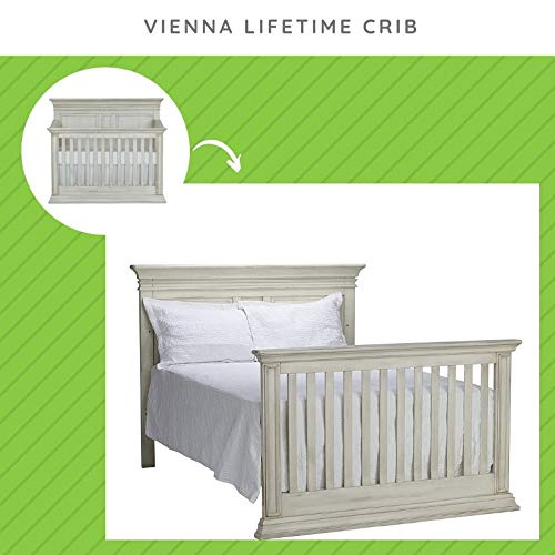 Amazon Com Full Size Conversion Kit Bed Rails For Baby Cache Vienna Crib Antique White Baby