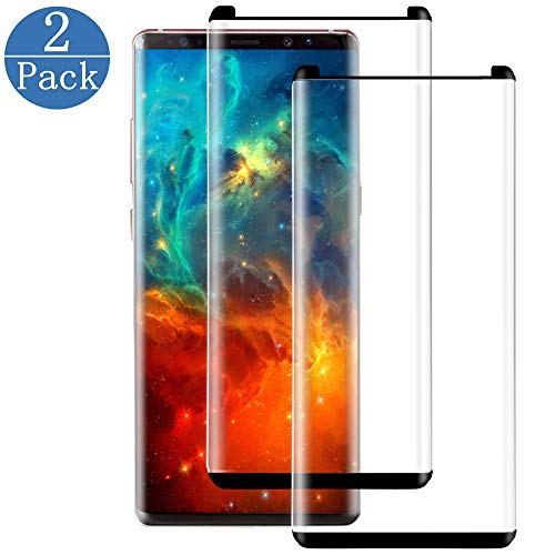 [2 Pack] Galaxy Note 9 Screen Protector, 3D Curve Edge Tempered Glass[9H Hardness][Anti-Scratch][Anti-Bubble][High Definition] Tempered Glass Screen Protector Compatible with Samsung Galaxy Note 9