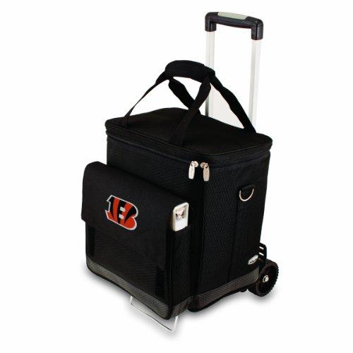 Picnic Time Black Cincinnati Bengals Cellar with Trolley