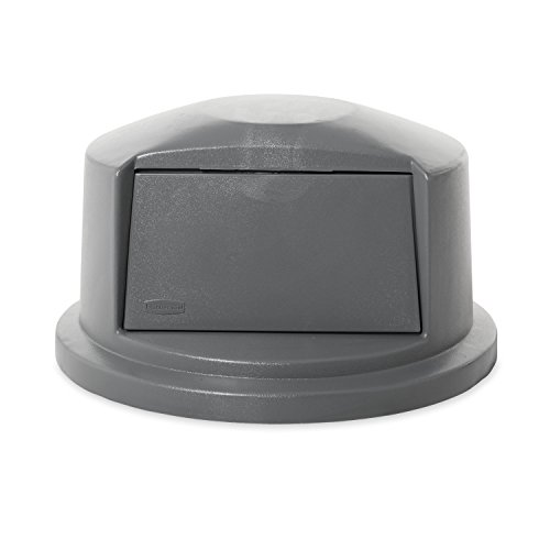 Rubbermaid Commercial 263788GY Brute Dome Top Swing Door Lid for 32 Gallon Waste Containers, Plastic, Gray