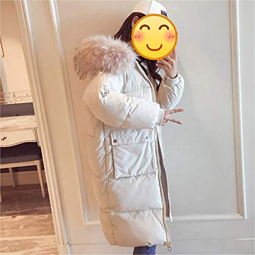 Abrigo Ocio Caliente S Invierno Negro Mantener chaqueta Gruesa Alargado De Mujer Xueping Capa blanco Escudo Algodón Estudiante xxl Encapuchado Chaquetas Invierno qP7wEFOT