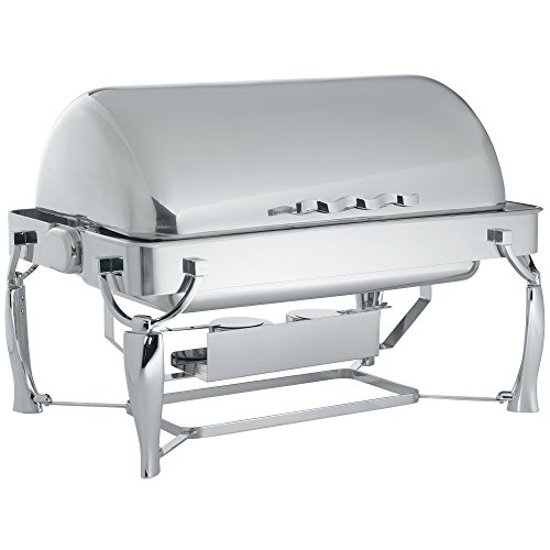 - Vollrath 4634010 9 Qt. Somerville Rectangular Chafer - Fully Retractable Roll Top