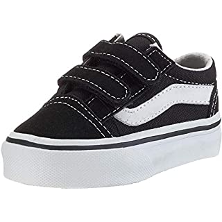 Vans Kids' Old Skool V-K, Black, 4 M US Toddler