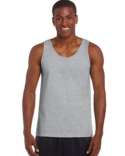 Gildan 2200- Classic Fit Adult Tank Top Ultra Cotton - First Quality - Sport Grey - X-Large