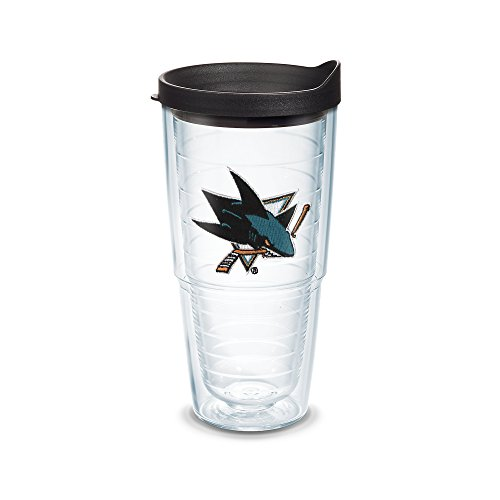 Tervis 1045182 NHL San Jose Sharks Logo Emblem Tumbler with Black Travel Lid, 24 oz, - Black Jose