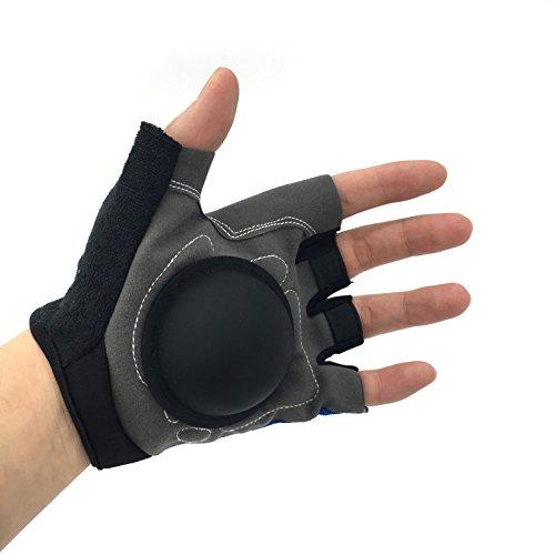 Silfrae Basketball Dribble Handling Training Gloves (Grey/Blue, - Dribble Gloves