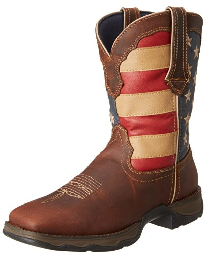 Durango Women's Lady Rebel RD4414 Western Boot,Brown/Union Flag,8.5 M US