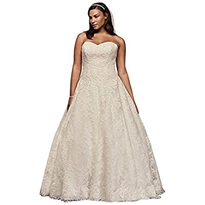 Lace Allover Beaded Plus Size Ball Gown Wedding Dress Wedding Dress Style...