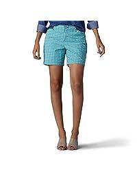 Lee - Pantalón Corto de Chino de Ajuste Recto, para Mujer