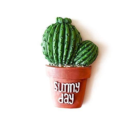 VOSAREA Imanes de refrigerador Resina Cactus Suculento Calcomanía ...