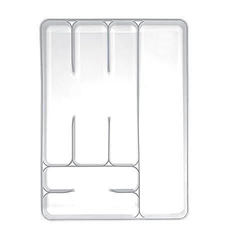 """Excelsa """"Arco Iris 6 Compartimentos Blanco Bandeja de cajón para Cubiertos"""