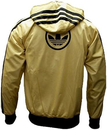 Adidas Mega Rev WB Wendejacke Windbreaker schwarzgold Gr