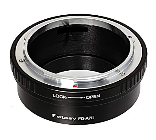 Fotasy Canon FD Lens to Sony E-Mount Adapter, Compatible with Canon FD Lens and Sony FE Mirrorless Cameras A7 A7 II A7 III A7R A7R II A7R III A7S A7S II A7S III A9