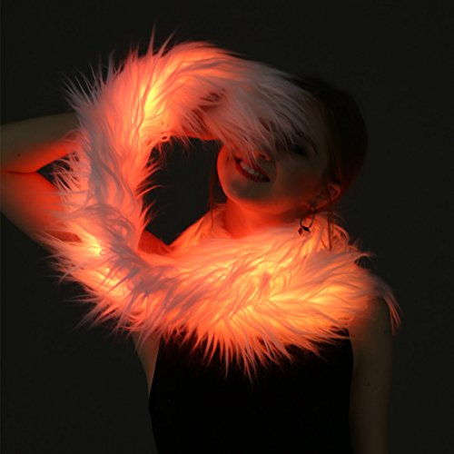 Led Scarf Light Up Boa Glow Fur Scarf Burning Man Costume Led Outfit Clothing Fashion Buner Style