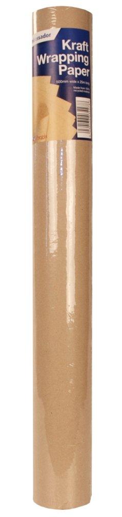 Ambassador - Papel kraft (50 rollos, 750 reciclado 100%, 750 rollos, mm de ancho, 4 m de largo, 70 g/m²) 7a680e
