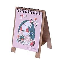 YeahiBaby Desk Calendar 2019 Mini Desktop Kraft Calendar Year Book Desk Calendar (Sea Bear Picture)