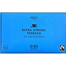 M&S Marks & Spencer Extra Strong One Cup Tea – 240 Teabags From the UK