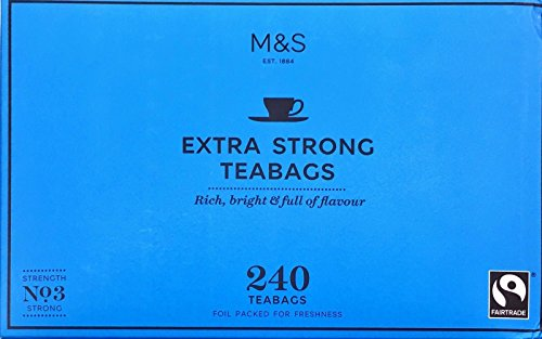 M&S Marks & Spencer Extra Strong One Cup Tea - 240 Teabags From the UK