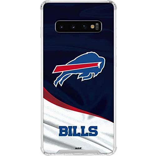 Skinit Buffalo Bills Galaxy S10 Clear Case - Officially Licensed NFL Phone Case - Transparent Galaxy S10 Cover