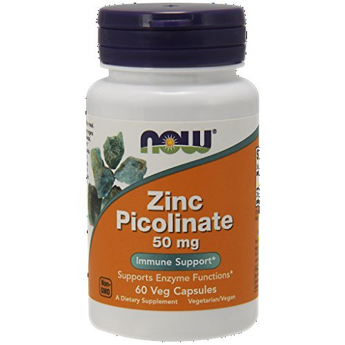 Cheap NOW Zinc Picolinate 50mg, 60 Capsules (Pack of 3)