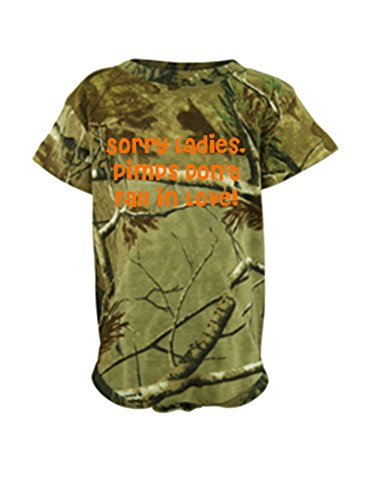 Sorry Ladies, Pimps Don't Fall In Love! Realtree Camo Baby Bodysuit One Piece Green Realtree 6 Months