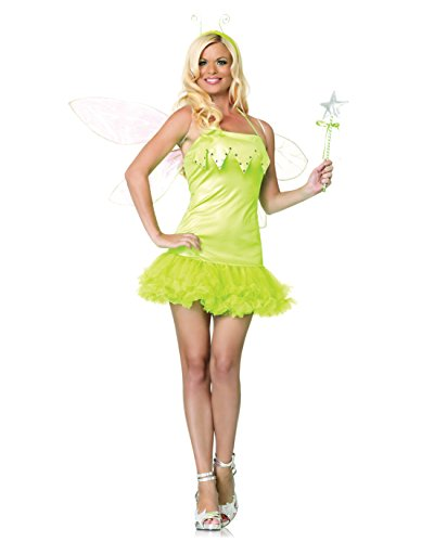 Sexy Green Fairy Costume Pixie Nymph Sprite Magical Theatre Costumes Sizes: (Nymph Costumes For Sale)