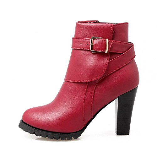 Sole Wheeled Heel Leather Shoes Imitated Red Slipping BalaMasa Non Solid Boots Womens Wq4w1n0A7