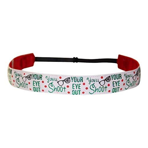 BEACHGIRL Bands Headband Adjustable No-Slip Hair Band For Women & Girls Christmas Story ()