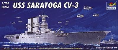 Trumpeter 1/700 USS Saratoga CV3 Aircraft Carrier Model Kit