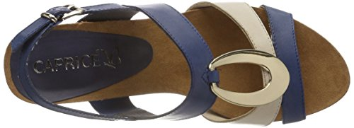 Caprice Beige 878 28307 Sling Women's Navy Sandals Back Multicolour gRqgw0r