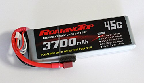 RoaringTop LiPo Battery Pack 45C 3700mAh 3S 11.1V with Deans Plug for RC Car Boat Truck Heli Airplane ()