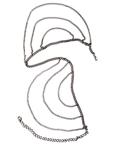 NYFASHION101 Women's Dressy Belly Body Waist Chain Belt, Multi Chain 1008S, Silver-Tone (Chain Tone Multi Silver)
