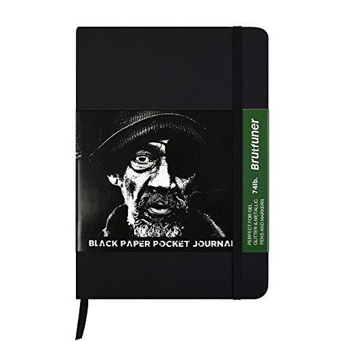 Notebook Large Blank Black Paper Notepad Hardcover Travel Journal Drawing Sketch Book for DIY Photo Album Wanshui