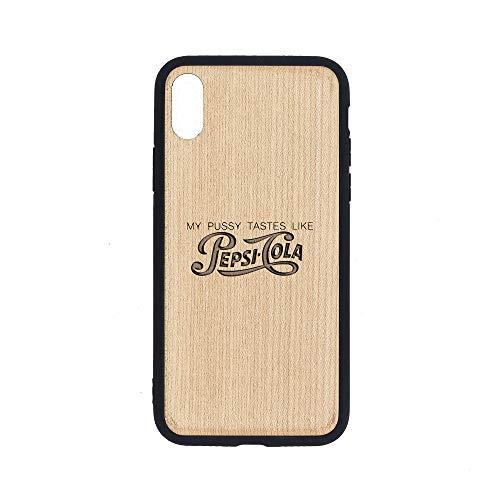 Pepsi-Cola - iPhone Xs MAX Case - Maple Premium Slim & Lightweight Traveler Wooden Protective Phone Case - Unique, Stylish & Eco-Friendly - Designed for iPhone Xs MAX