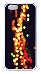 Apple iPhone 5S Cases - Lights TPU Hard Plastic Case for iPhone 5/5S - White